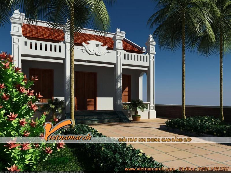 Thiết kế nhà thờ họ tại Hà Nam 02