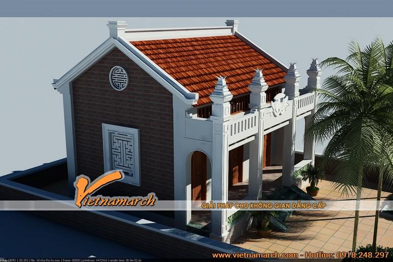 Thiết kế nhà thờ họ tại Hà Nam 03