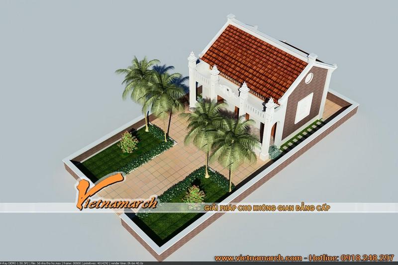 Thiết kế nhà thờ họ tại Hà Nam 04