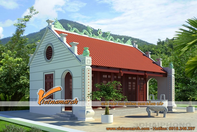 Nhà thờ họ tại Hà Nam nhà ông Hải- Phương án 02