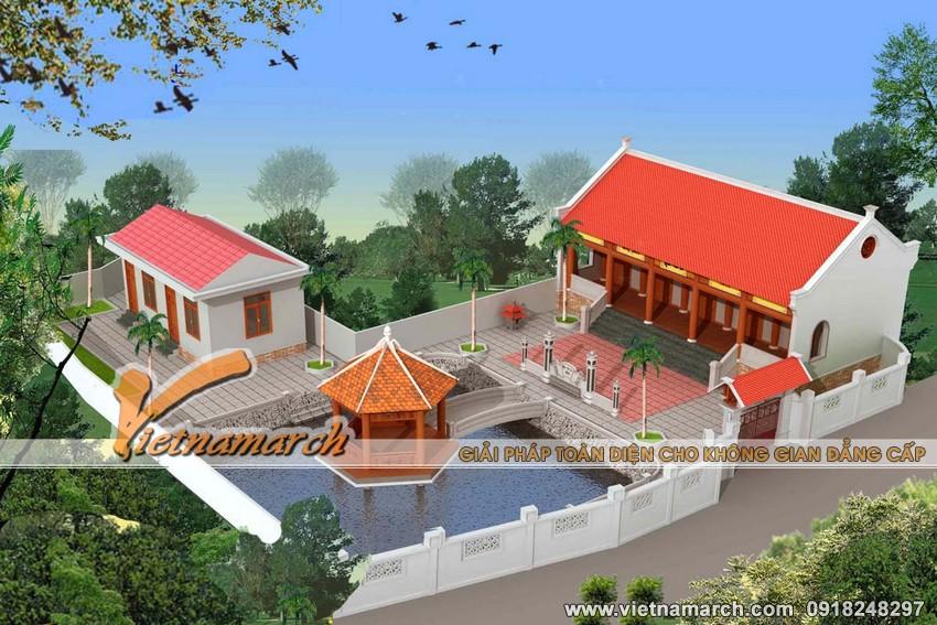 Nhà thờ họ 5 gian thiết kế cho nhà bác Phúc - Hưng Yên