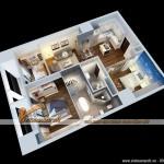 Thiết kế đột phá cho nội thất căn hộ 117m2 nhà chị Trang chung cư Times City