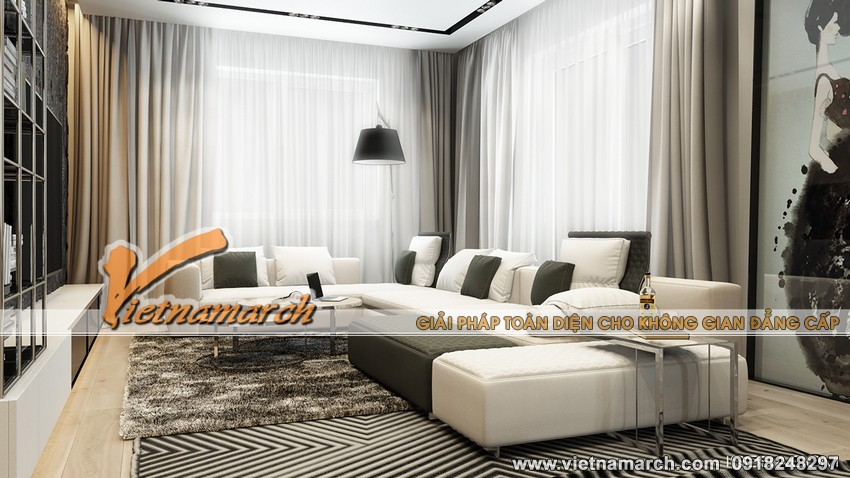 Thiết kế nội thất đẹp cho căn hộ hiện đại tại chung cư cao cấp