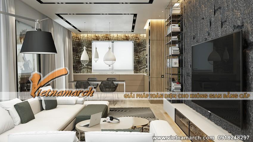 Phòng khách với nội thất hiện đại