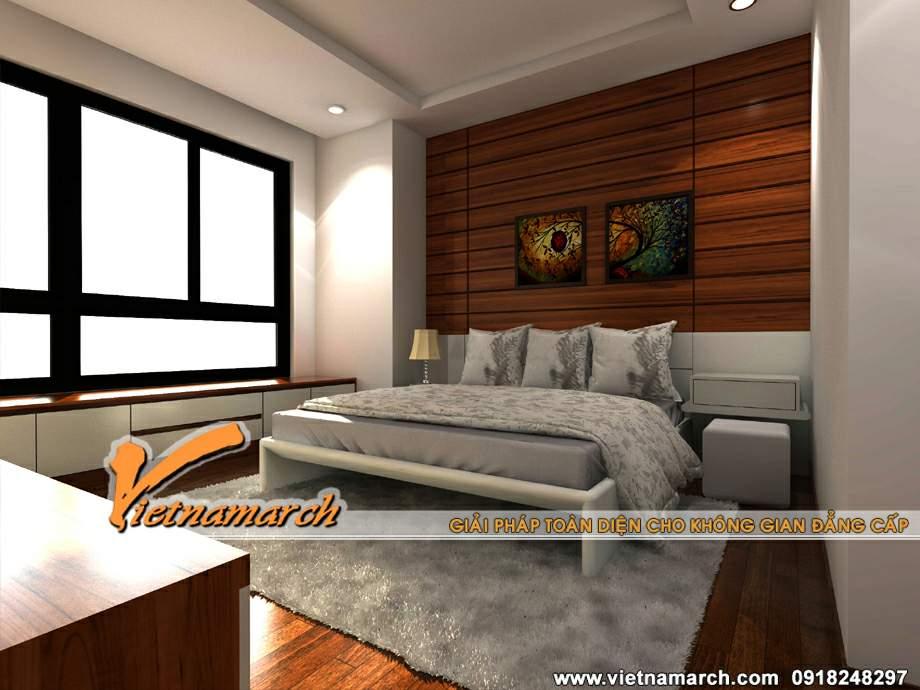 Thiết kế nội thất phòng ngủ ấm cúng trong căn hộ T08-09-21 Chung cư Times City