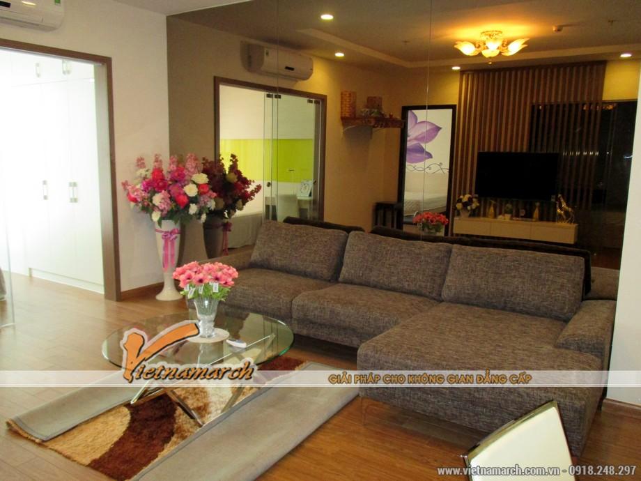 Hoàn thiện nội thất phòng khách căn hộ T11-03-09 Times City 02
