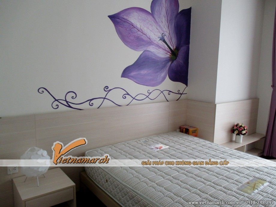 Thiết kế nội thất phòng ngủ lớn trong căn hộ T11-03-09 chung cư Times City 10