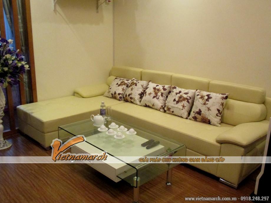 Nội thất phòng khách + phòng ăn hiện đại đầy đủ tiện nghi.
