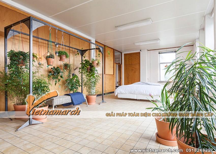 Thiết kế nội thất đẹp cải tạo văn phòng thành không gian sống 01
