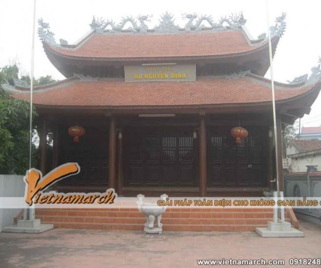 Thiết kế nhà thờ họ cho dòng họ Nguyễn Đình thuộc huyện Tiên Lãng tỉnh Hải Phòng.