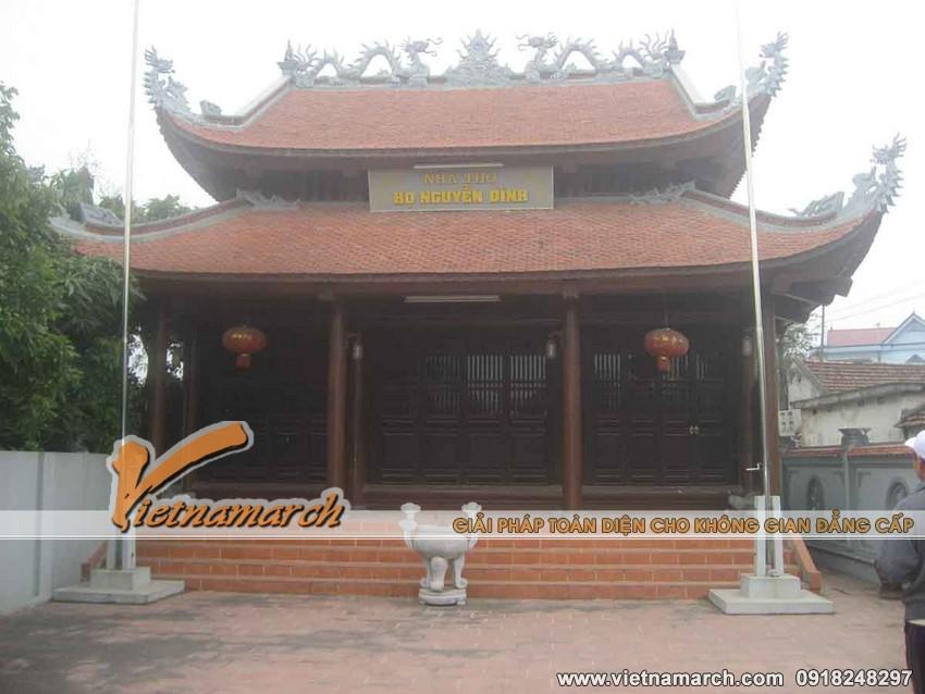 Toàn cảnh nhà thờ họ của dòng họ Nguyễn Đình thiết kế nhà thờ họ tại Hải Phòng
