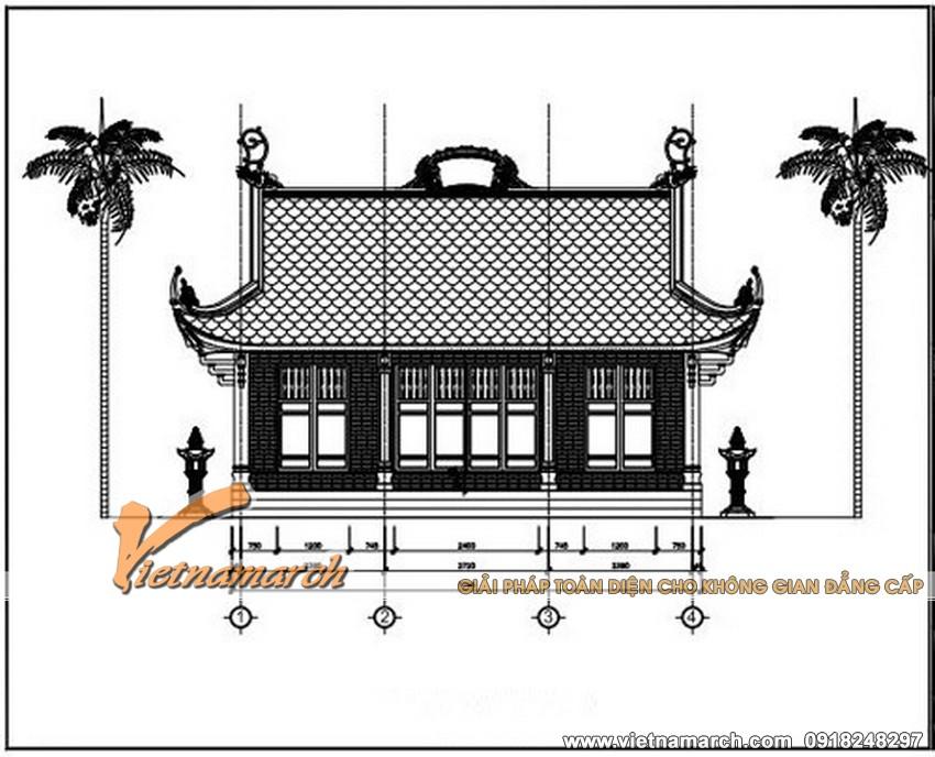 Bản vẽ thiết kế chi tiết thiết kế nhà thờ họ tại Hải Phòng 02