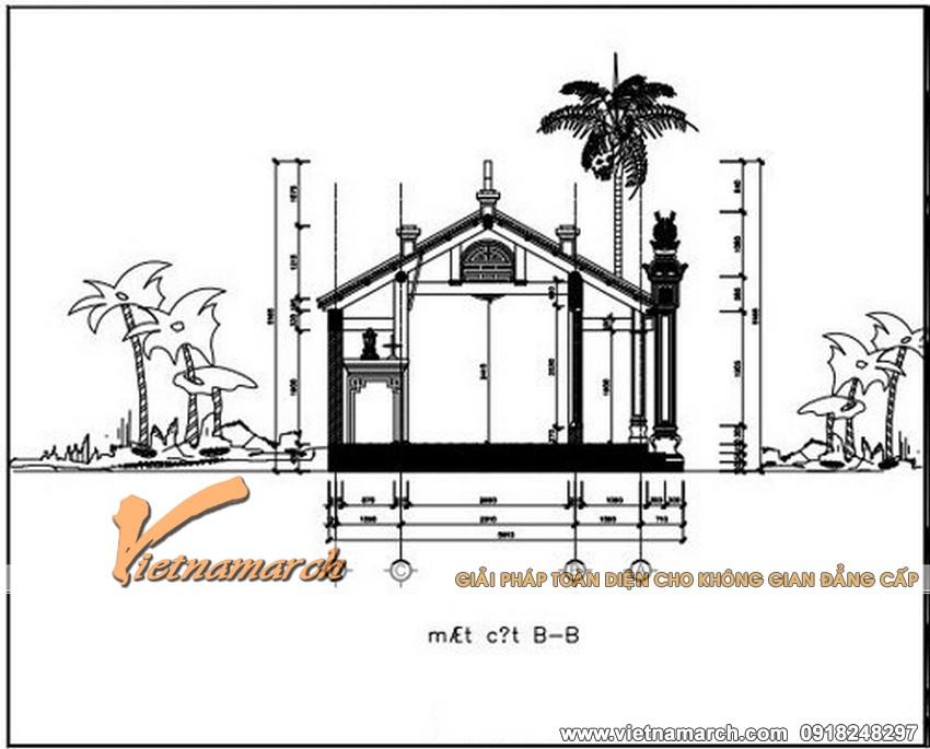 Mặt sau của bản vẽ thiết kế chi tiết nhà thờ họ tại Hải Phòng 03