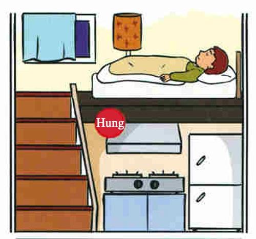 Đầu giường nên kê sát vào tường