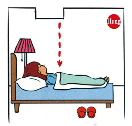 Giường ngủ kiêng chiếu thẳng vào ống khói