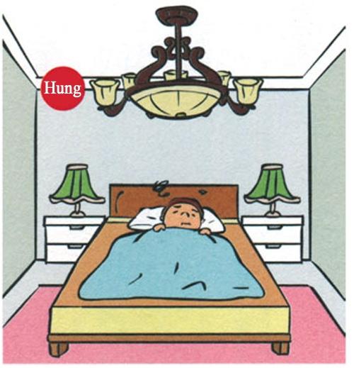 Không nên sử dụng vật trang trí cầu kì trên trần nhà
