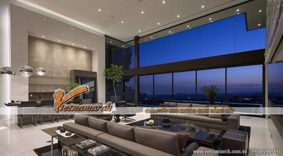 Phòng khách trên lầu 2 có view nhìn cực đẹp