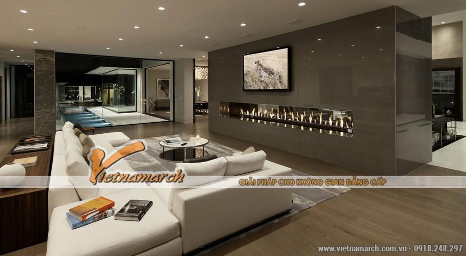 Một phòng khách hiện đại ở tầng 1