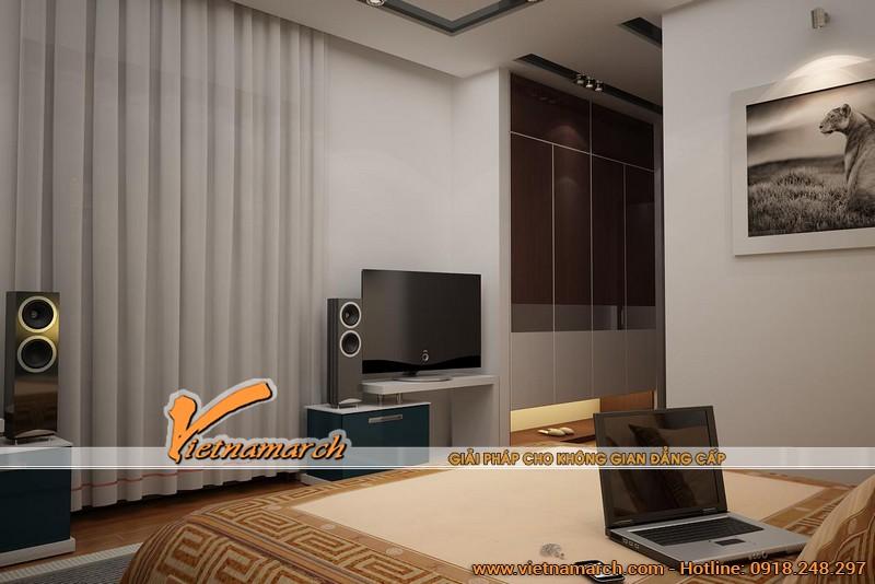 Phòng ngủ hiện đại và thiết kế đầy đủ tiện nghi