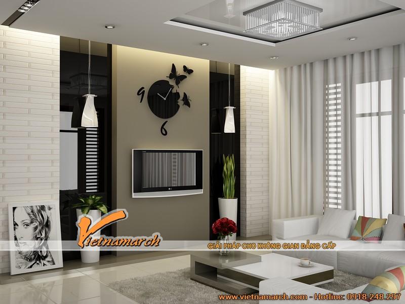 Một phòng khách khác ở trên tầng 2 được thiết kế hiện đại