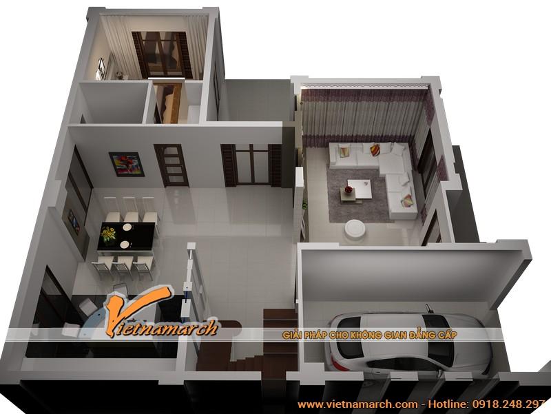 Mặt bằng chi tiết tổng thể các phòng của tầng 1