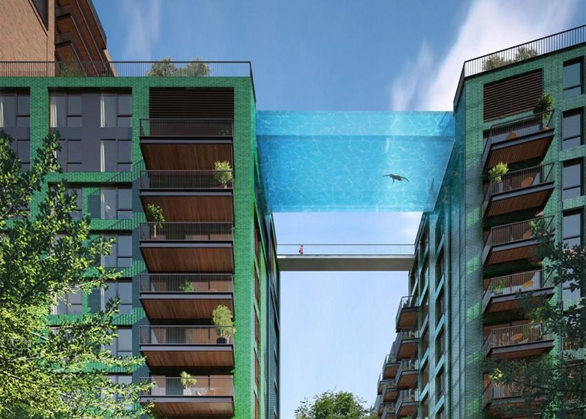 Thiết kế kiến trúc độc đáo bể bơi lơ lửng trên không