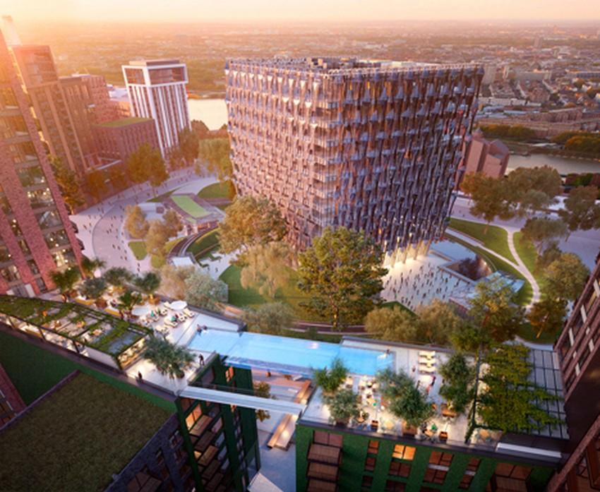 """""""Thiết kế kiến trúc trong suốt của bể bơi The Sky Pool là kết quả của những tiến bộ đáng kể trong ngành xây dựng trong thập kỷ qua"""