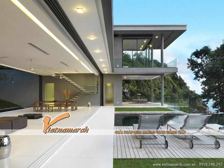Không chỉ có kiến trúc độc đáo, phần nội thất có thể nói là không còn gì hoàn hảo hơi cũng chính là đẳng cấp của ngôi biệt thự này.