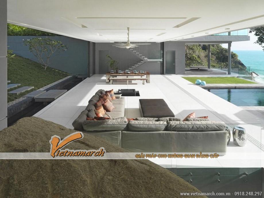 Được thiết kế dành cho mục đích nghỉ dưỡng, thăm quan, trải nghiệm nên ngôi biệt thự có thiết kế kiến trúc hòa hợp với thiên nhiên.