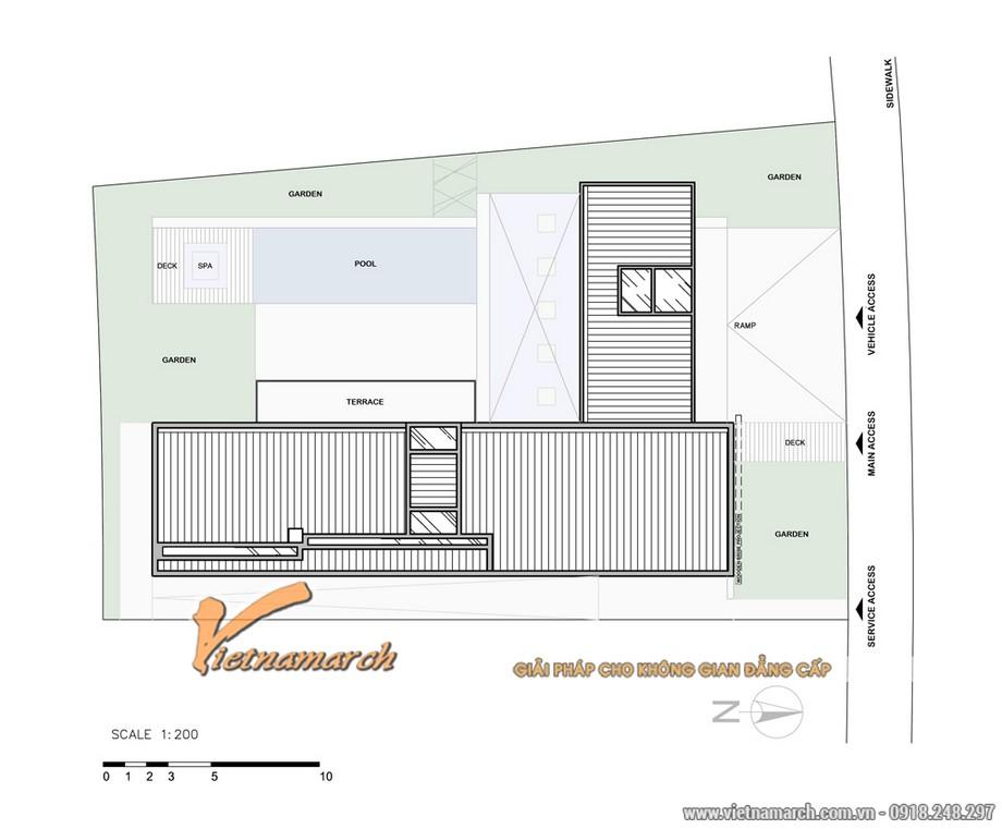 Bản vè thiết kế kiến trúc của ngôi biệt thự