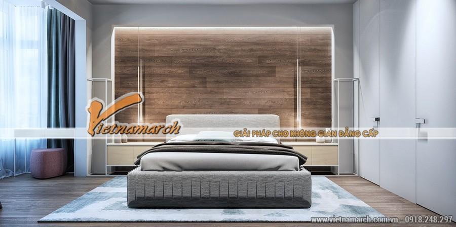 Thiết kế nội thất phòng ngủ hiện đại nhưng vẫn ấm cúng bởi màu sắc trung tính