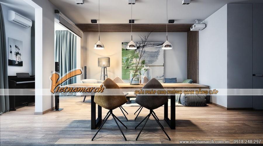 Bộ bàn ghế ăn với những chiếc ghế thật hiện đại
