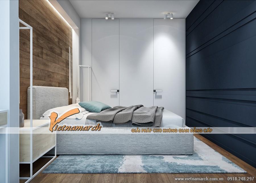 Tủ quần áo được thiết kế âm tường đảm bảo diện tích tốt cho phòng ngủ