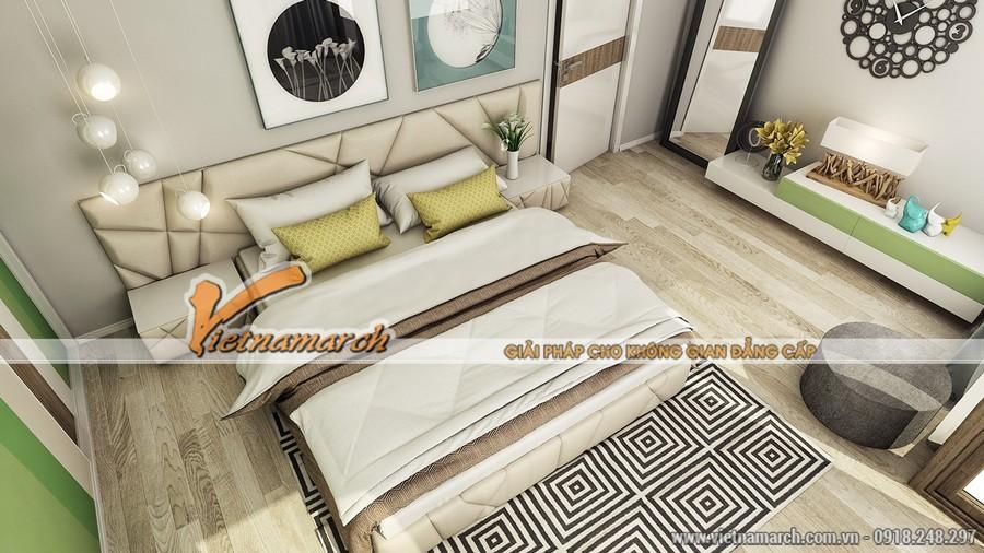 Phòng ngủ bố mẹ được thiết kế tinh tế.