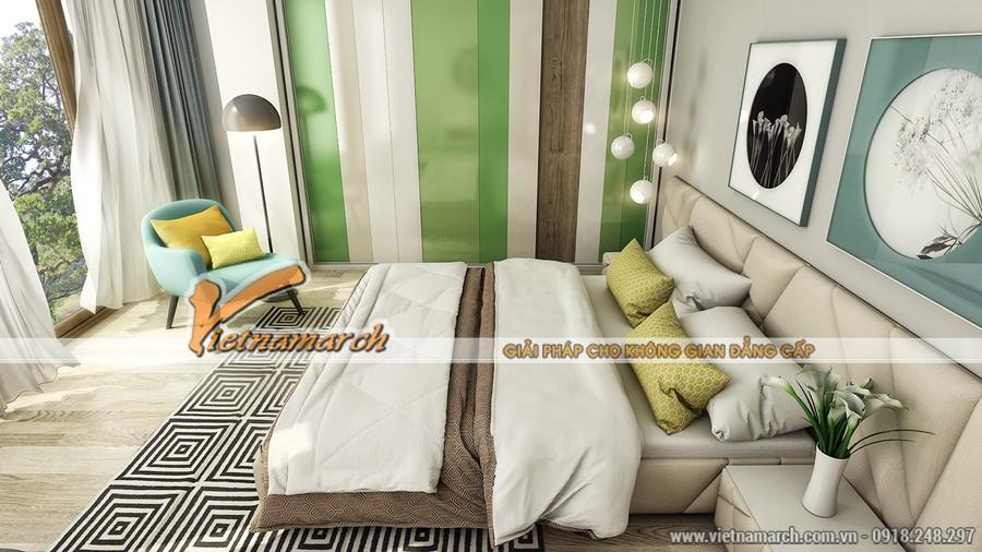 Phòng ngủ có một không gian hướng sáng tuyệt vời