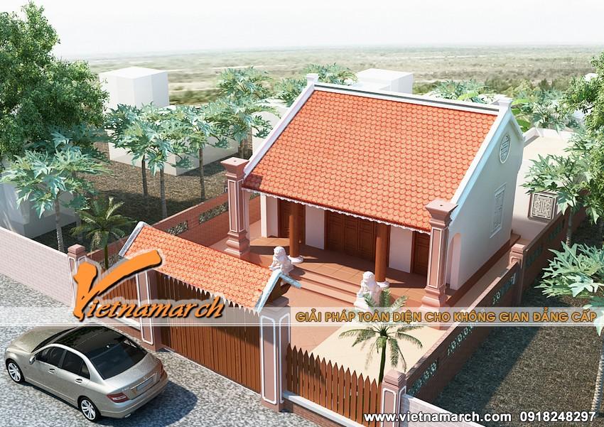 Thiết kế nhà thờ họ Lê cho gia đình nhà bác Hiển - Ứng Hòa - Hà Nội 01