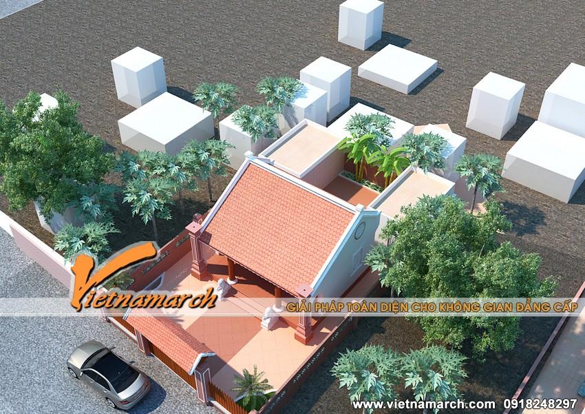 Thiết kế nhà thờ họ cho gia đình nhà bác Hiển - Ứng Hòa - Hà Nội 02