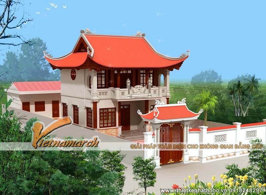 Mẫu nhà thờ họ 2 tầng tại Ứng Hòa - Hà Nôi