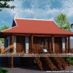 Mẫu nhà thờ gỗ 4 mái tại Hưng Yên