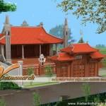 Mẫu nhà thờ họ có 4 mái cong ở Bắc Ninh