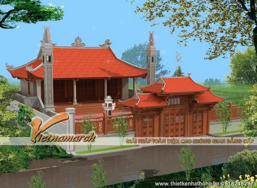 Mẫu nhà thờ 4 mái cong tại Nam Định