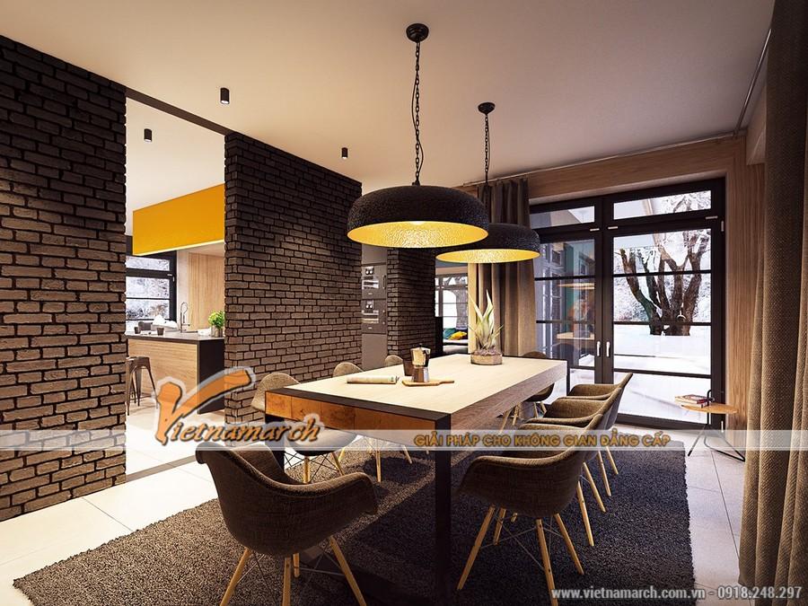 Phòng bếp sang trọng hiên đại với đầy đủ từ bàn bar cho đến chỗ nấu ăn tiện lợi.