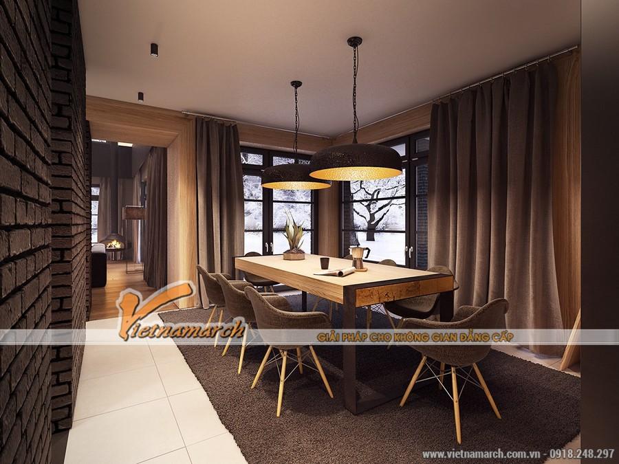 Thiết kế nội thất phòng bếp ấm cúng trong ngôi nhà phố hiện đại
