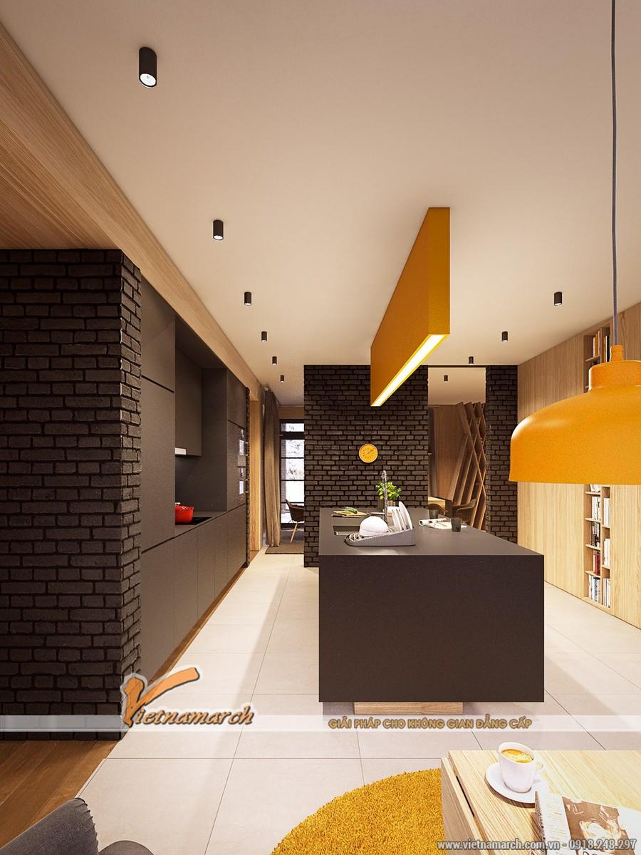 Rất hiện đại và phong cách với thiết kế của tường và trần nhà - thiết kế nội thất nhà phố