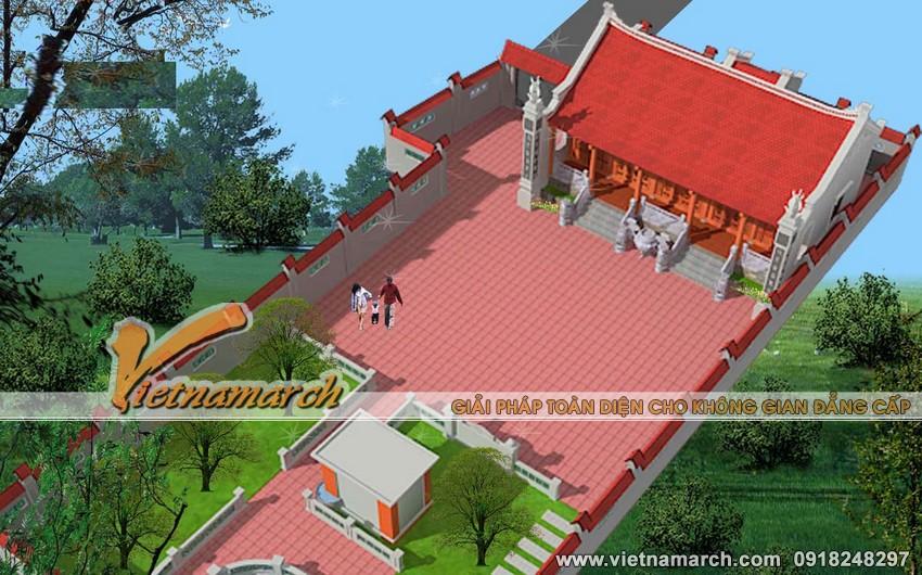 Thiết kế nhà thờ 5 gian - nhà thờ rộng 5 gian cho nhà bác Phúc - Nam Trực- Nam Định 02