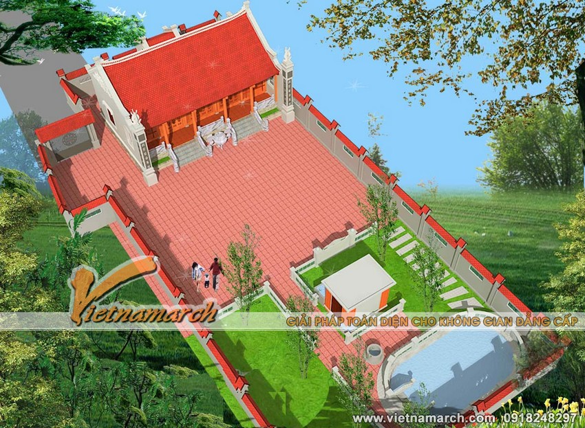 Thiet ke nha tho ho- nhà thờ họ Lê rộng 5 gian cho nhà bác Phúc - Nam Trực - Nam Định 04