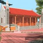 Mẫu nhà thờ 5 gian, 2 mái truyền thống ở Nam Trực – Nam Đinh
