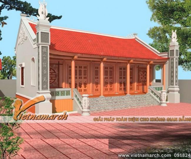 Thiết kế nhà thờ họ nhà thờ 5 gian cho dòng họ Lê thuộc huyện Nam Trực - tỉnh Nam Định.