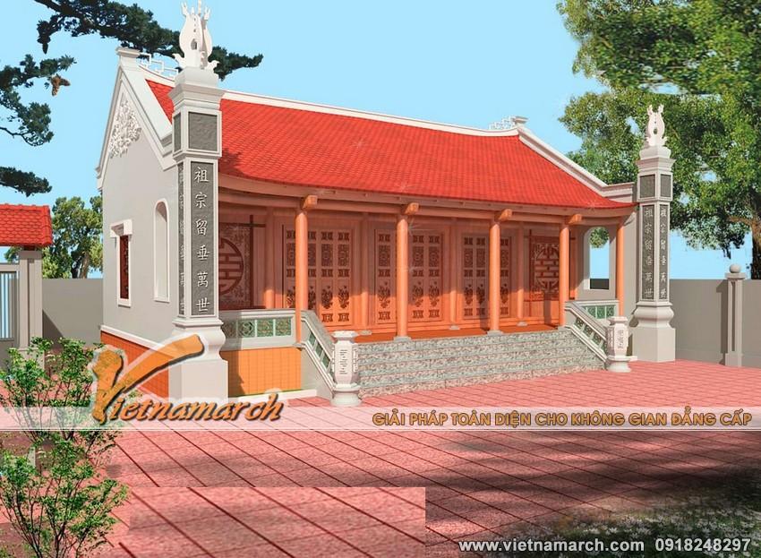 Thiết kế nhà thờ họ nhà thờ 5 gian