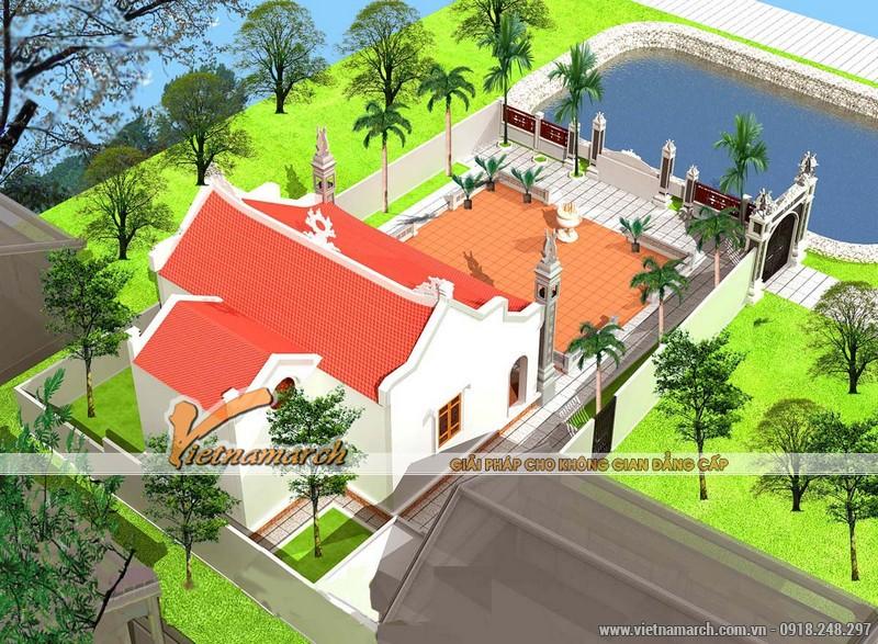 Thiết kế nhà thờ họ mặt bằng chữ Nhị tại Ứng Hòa - Hà Nội 02